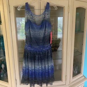 Betsey Johnson Lace Navy Blue Dress size 6